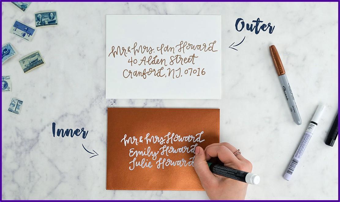 Inside Envelope Wedding Invitation Etiquette