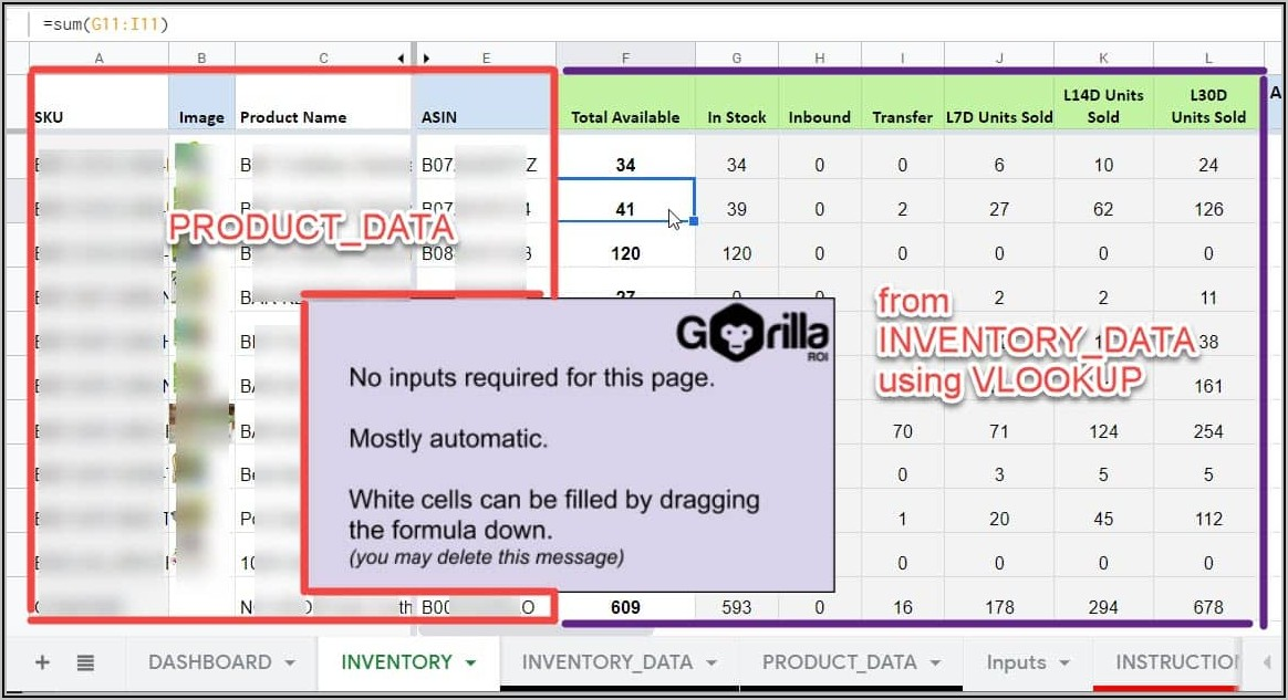 Inventory Management Spreadsheet Excel