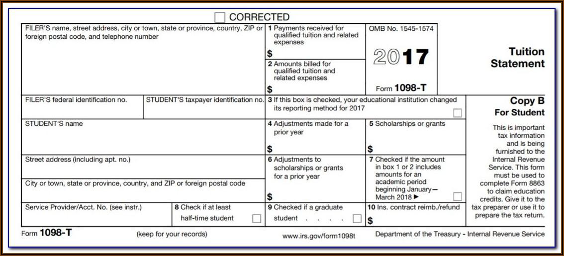 Irs Form 1098 T International Students