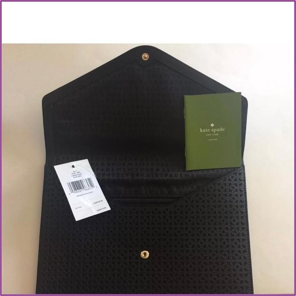 Kate Spade Black Envelope Clutch