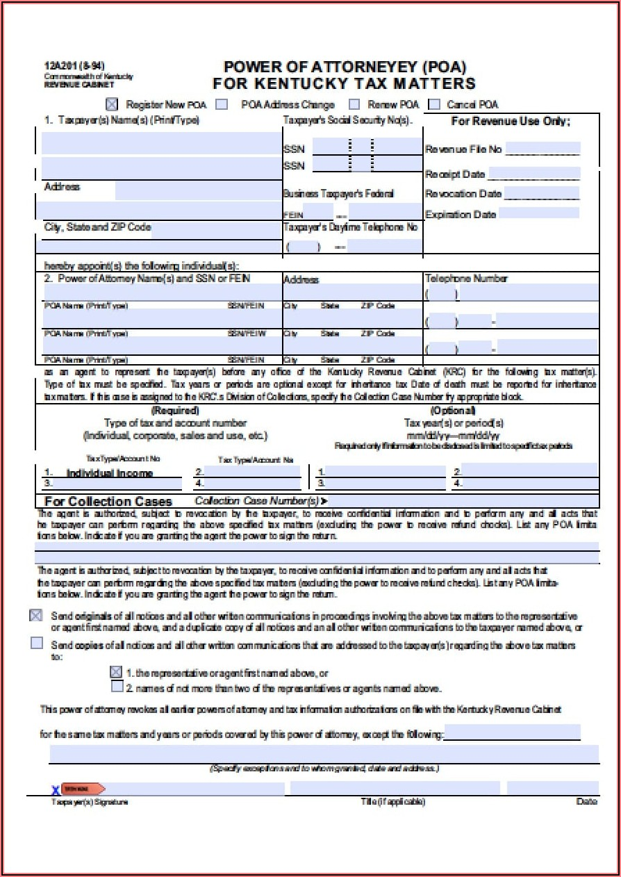 Kentucky Temporary Custody Form