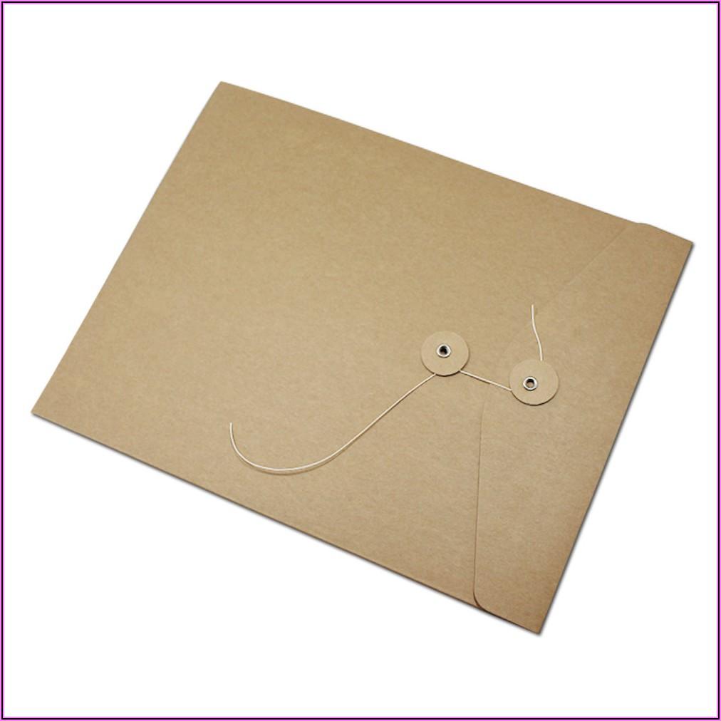 Kraft Button And String Envelopes