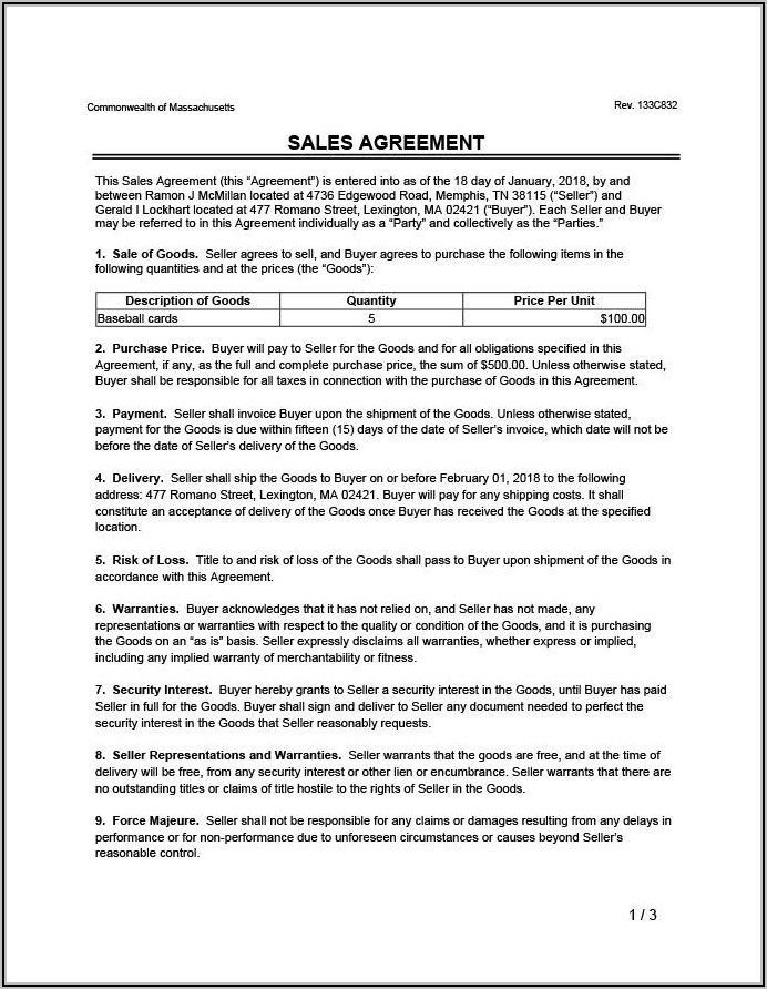 Land Sell Contract Template