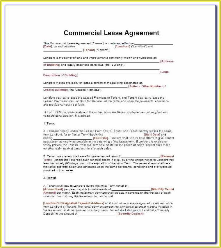 Landlord Agreement Template Scotland