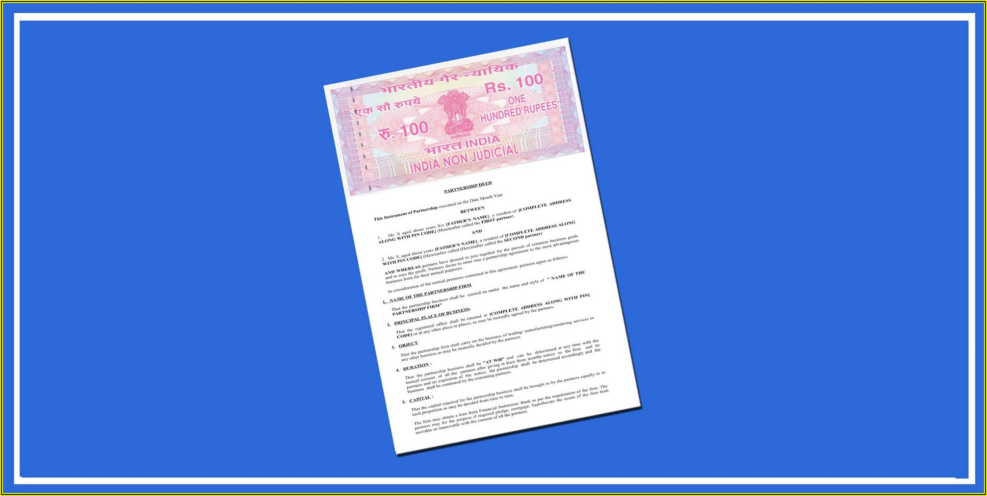 Law Firm Partnership Deed Format