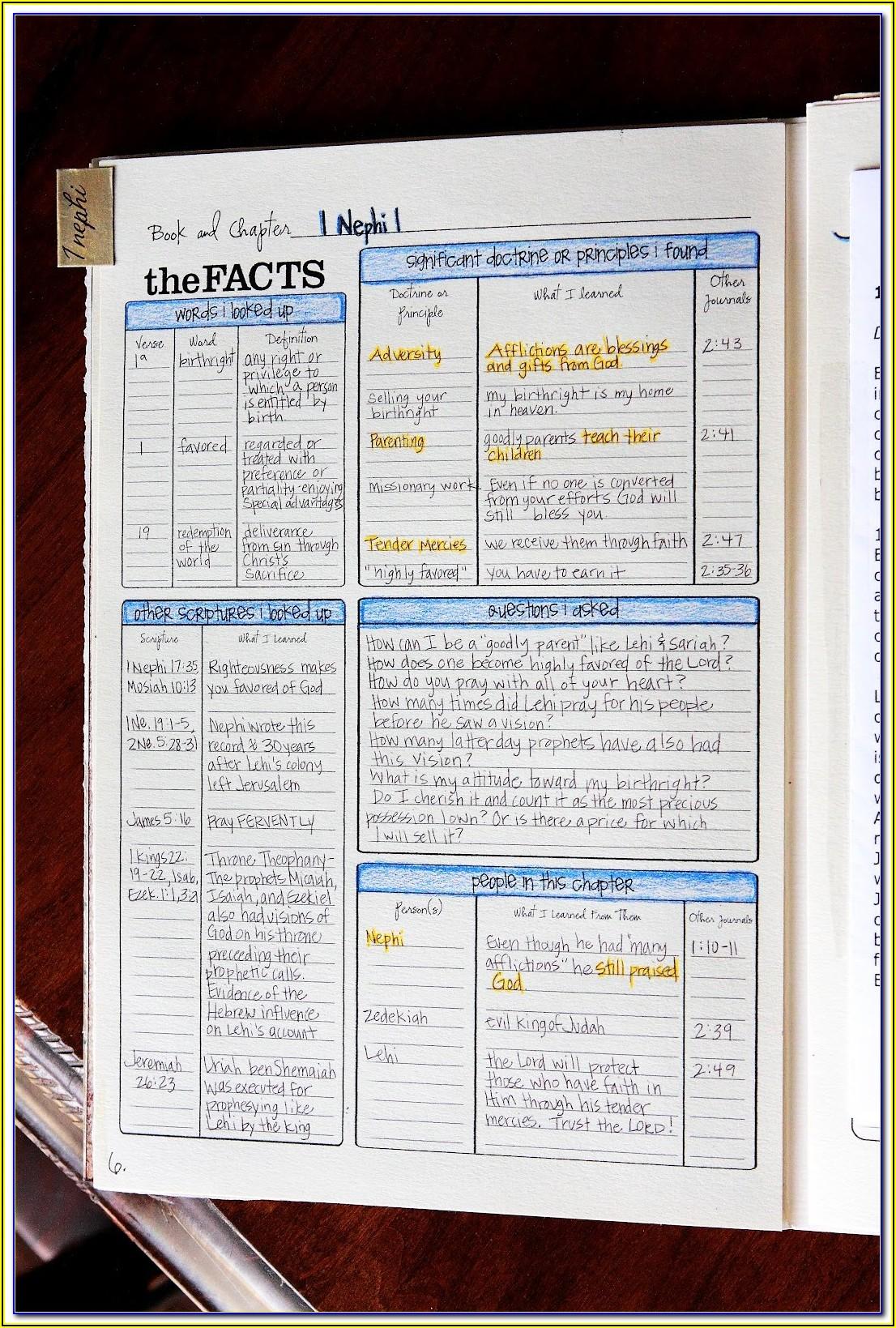 Lds Scripture Journal Templates
