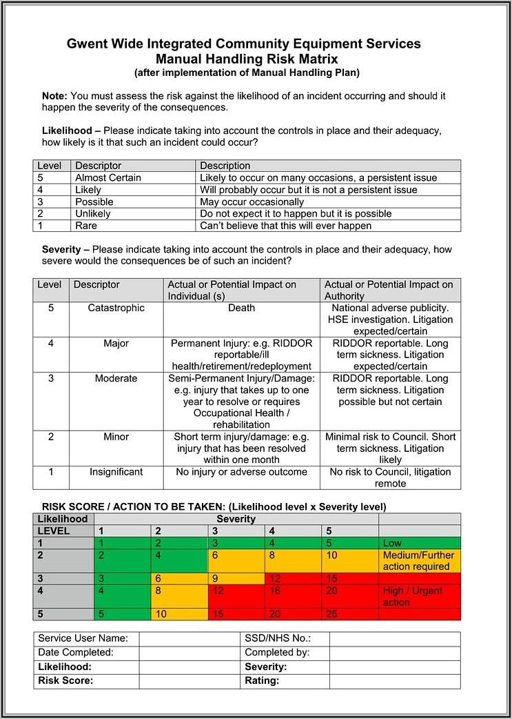 Legionella Risk Assessment Template Word