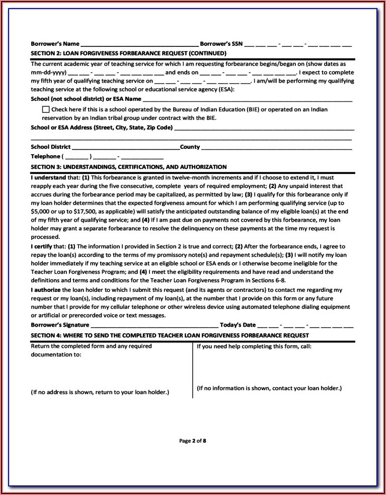 Loan Forgiveness Tax Form