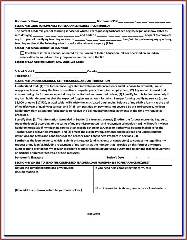 Loan Forgiveness Tax Form