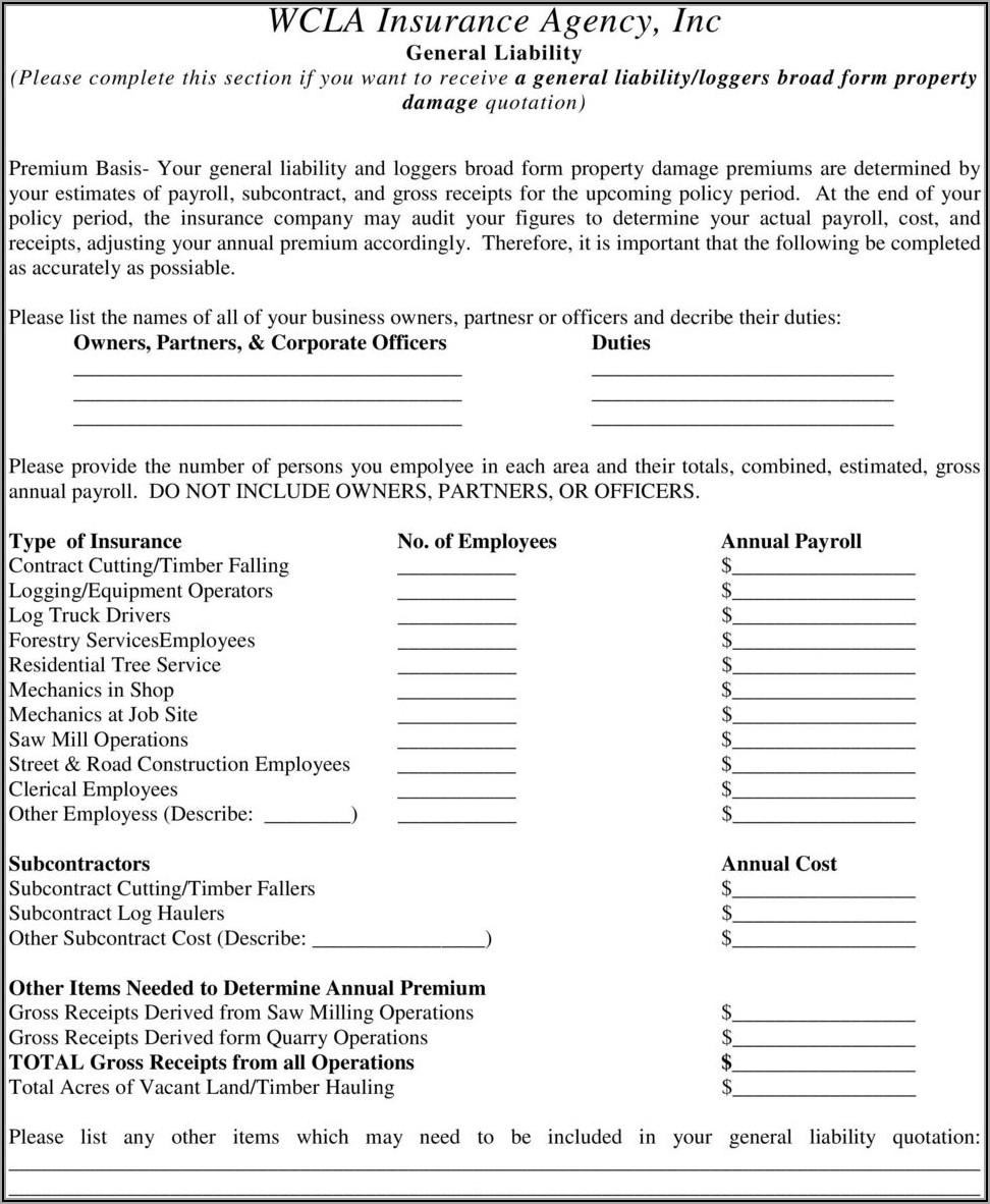 Loggers Broad Form Insurance California