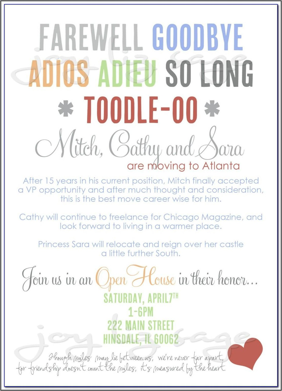 Lunch Party Invitation Email Template