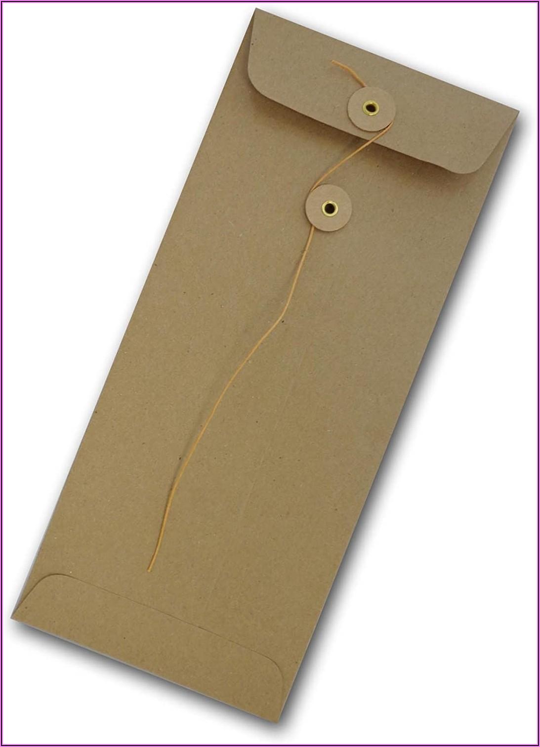 Manila Button And String Envelopes