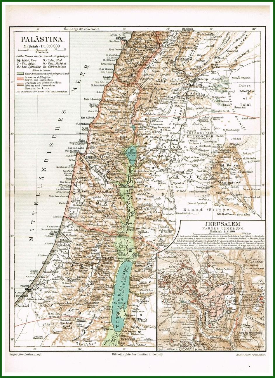 Map Of Israel Palestine Wall