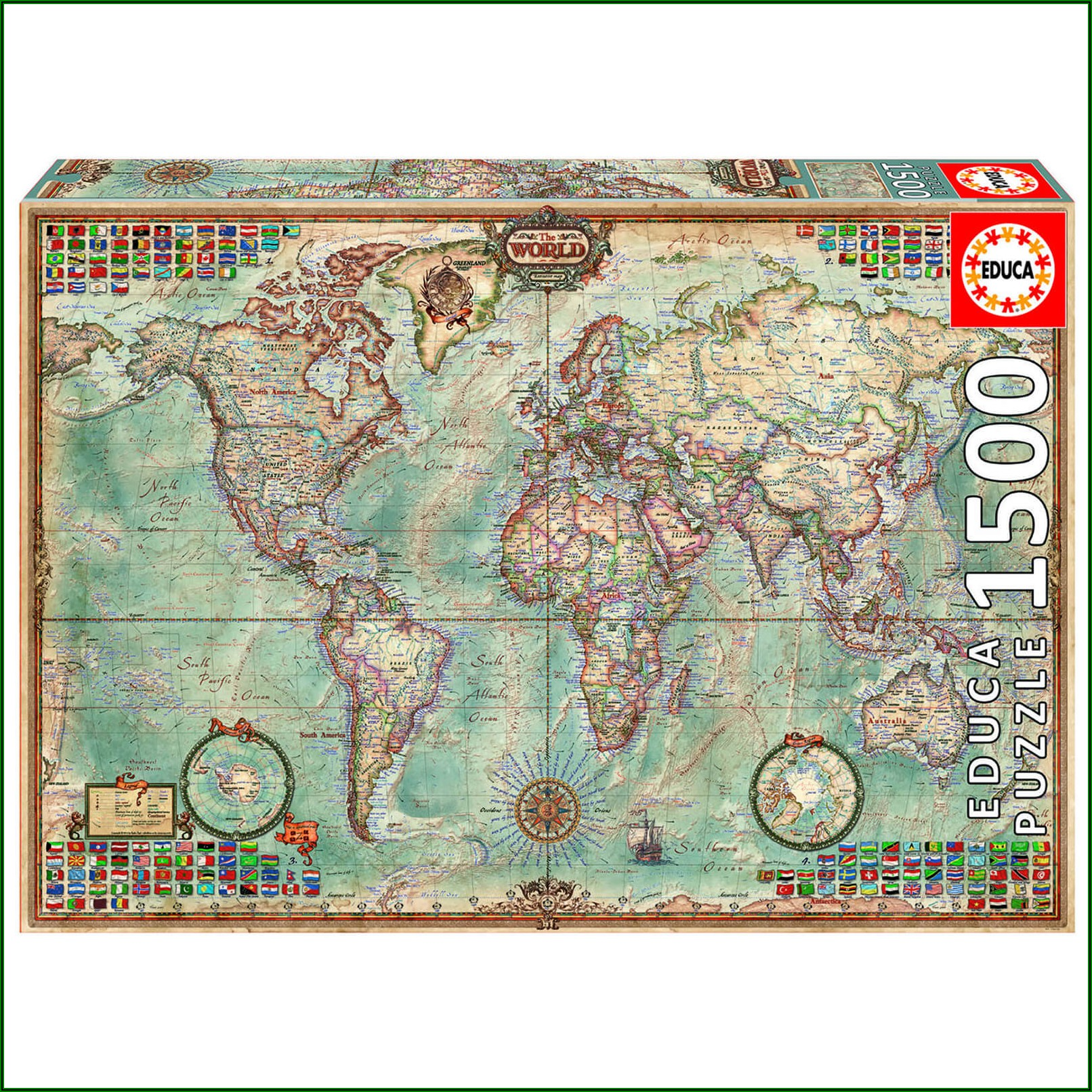 Map Of The World Jigsaw Puzzle Uk