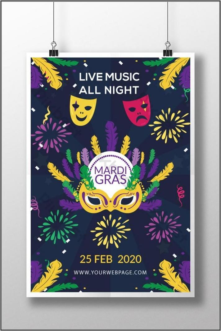 Mardi Gras Flyer Template Free Download