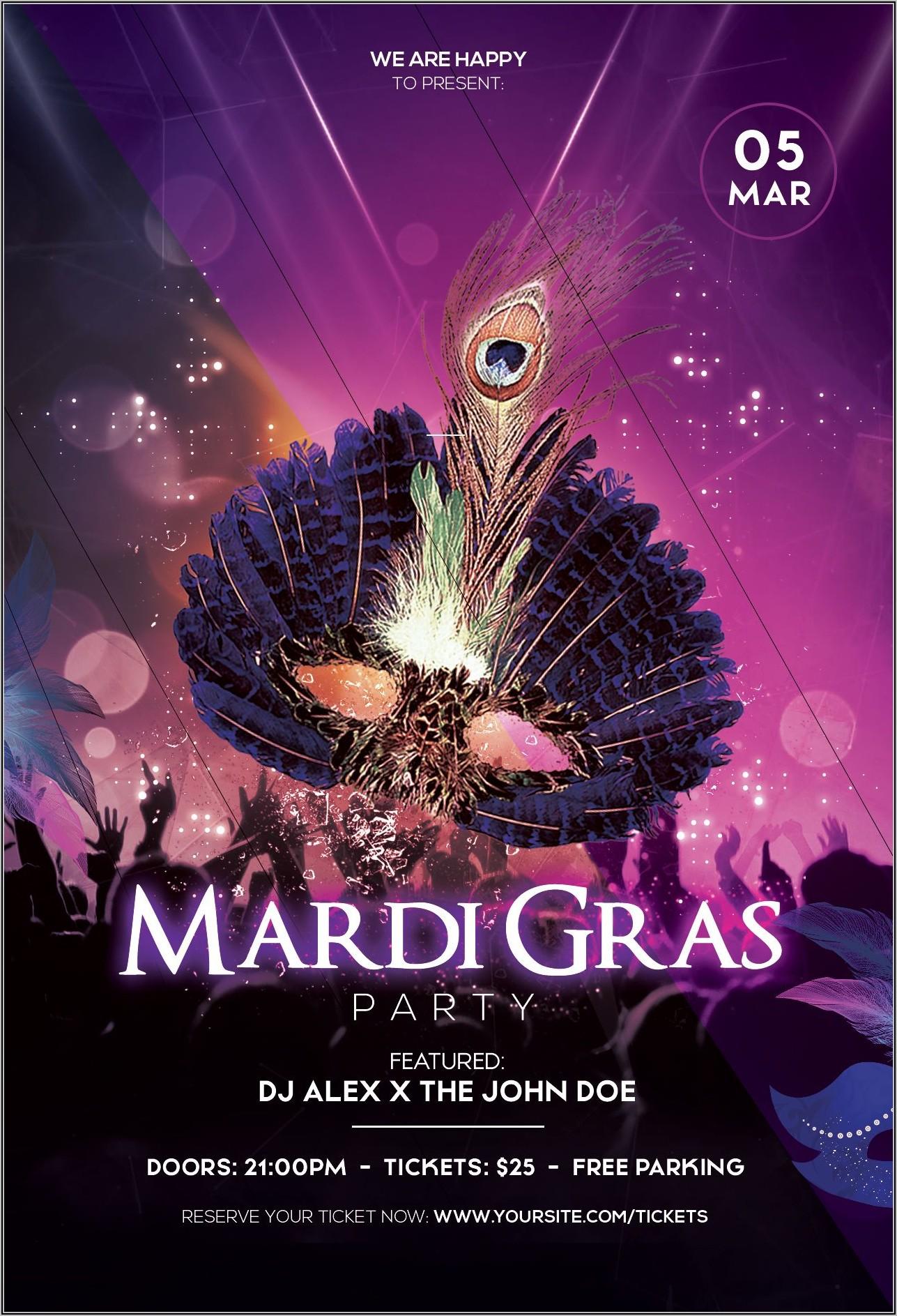 Mardi Gras Flyer Templates