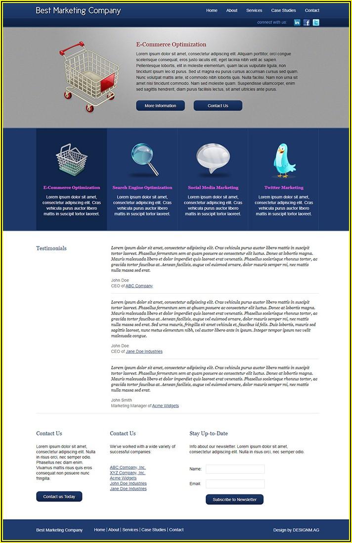Marketing Company Website Templates Free
