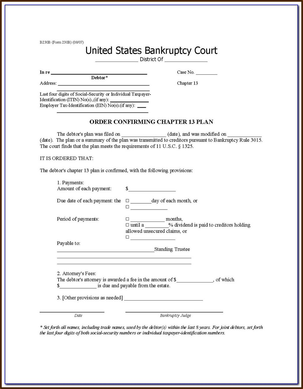 Maryland Bankruptcy Forms For Chapter 7