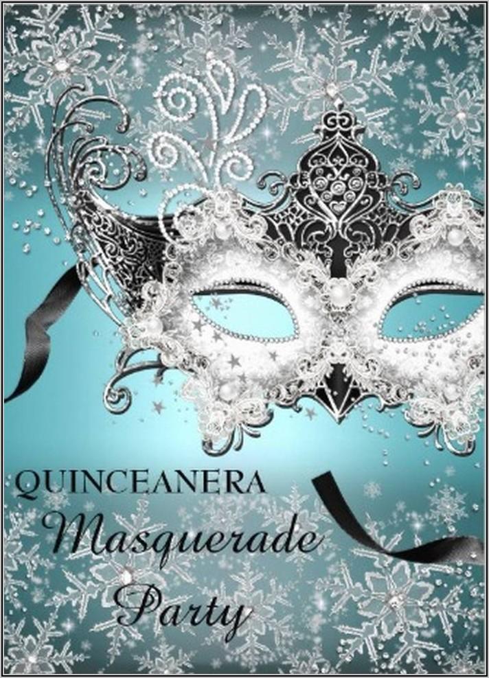 Masquerade Ball Invitation Template
