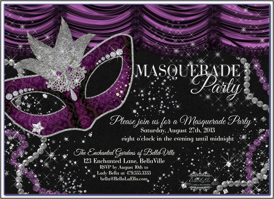 Masquerade Ball Ticket Template Free