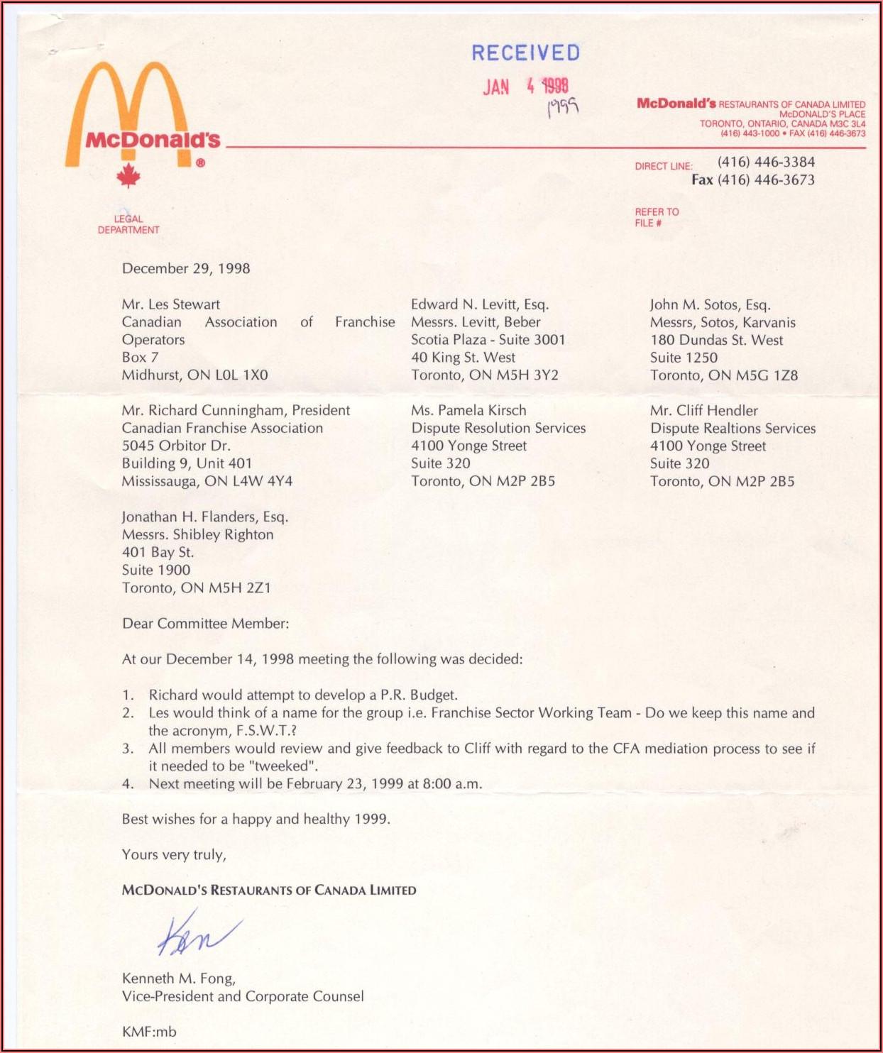 Mcdonalds Job Application Form Uk Pdf