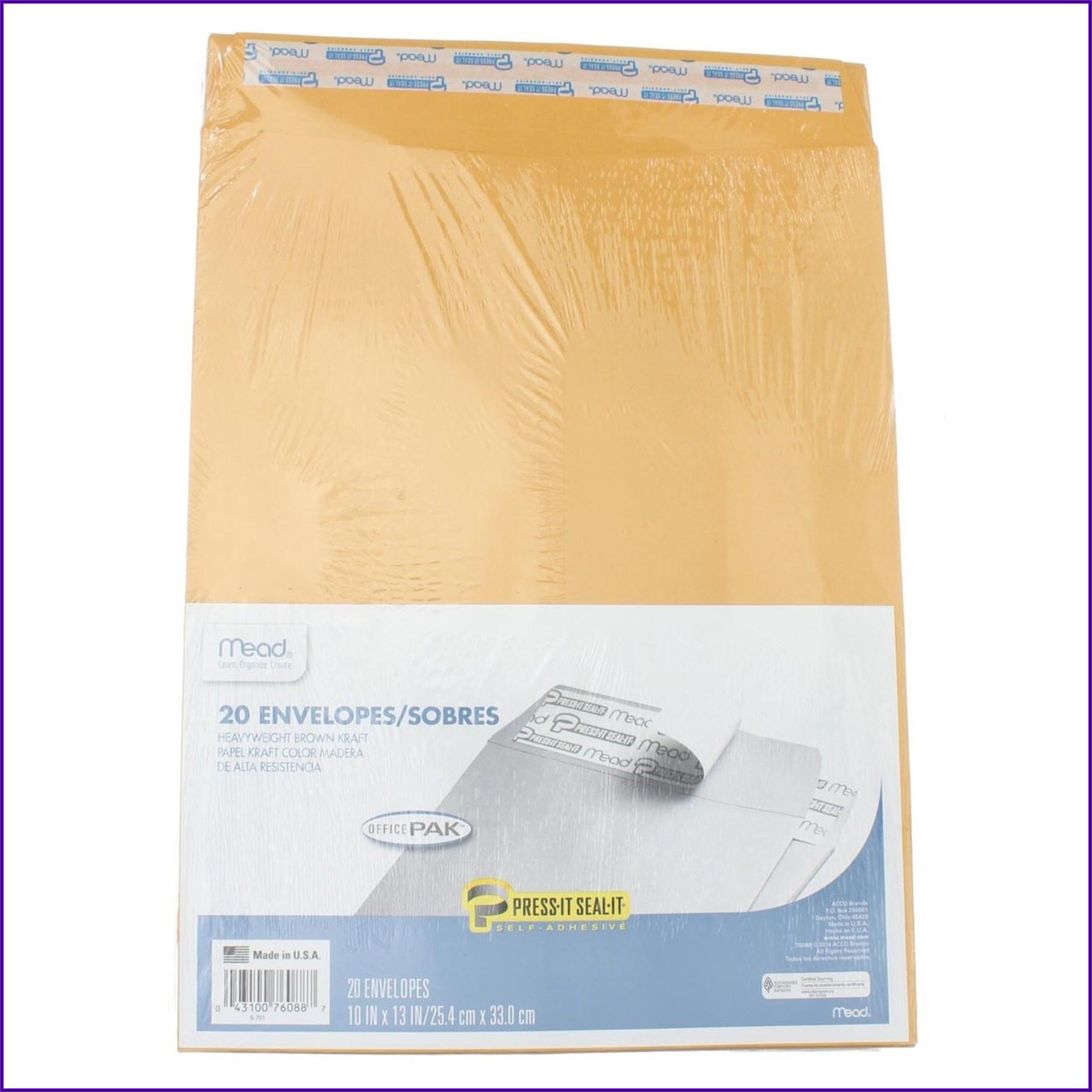 Mead Press It Seal It Envelopes