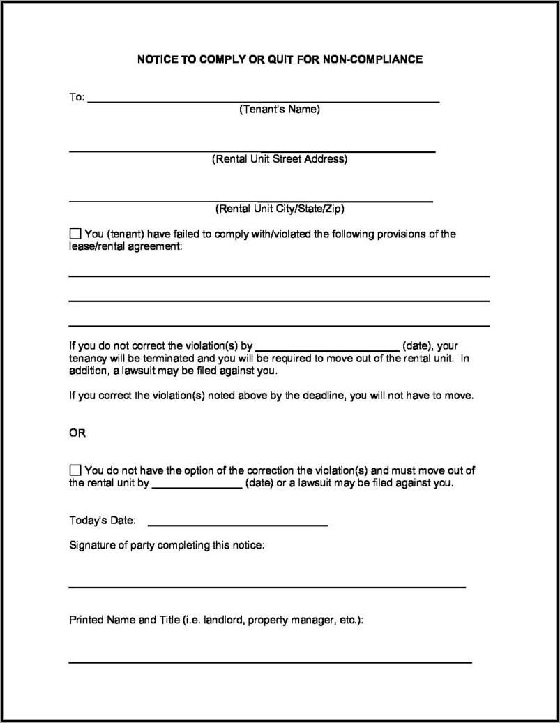 Michigan Eviction Notice Form