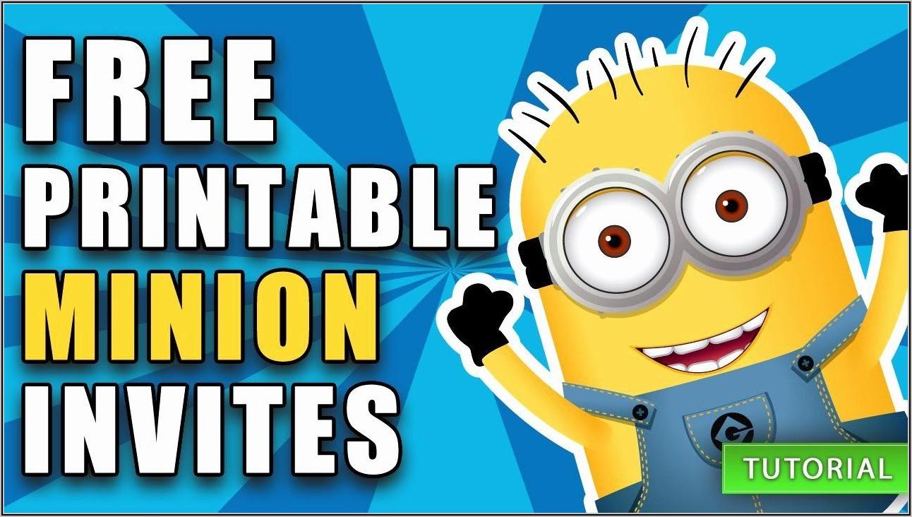 Minion Birthday Invite Template