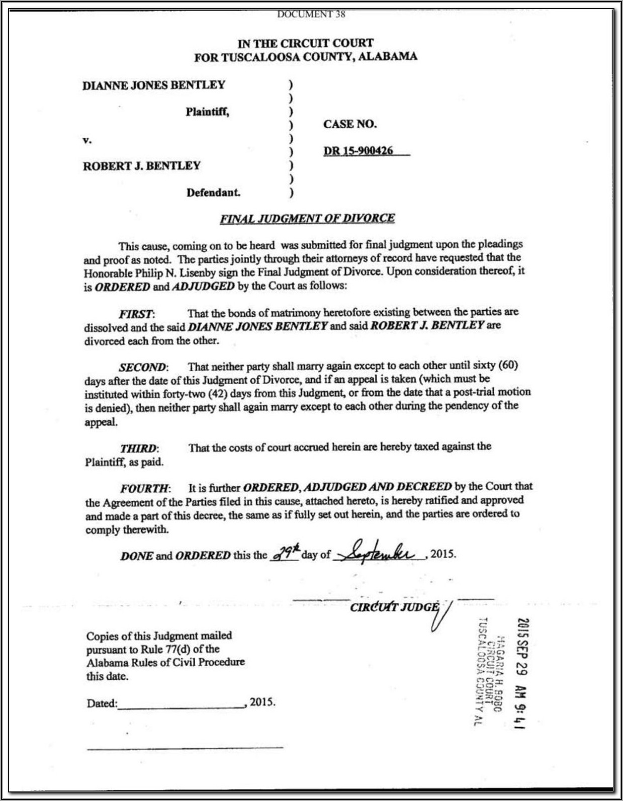 Montgomery County Divorce Papers