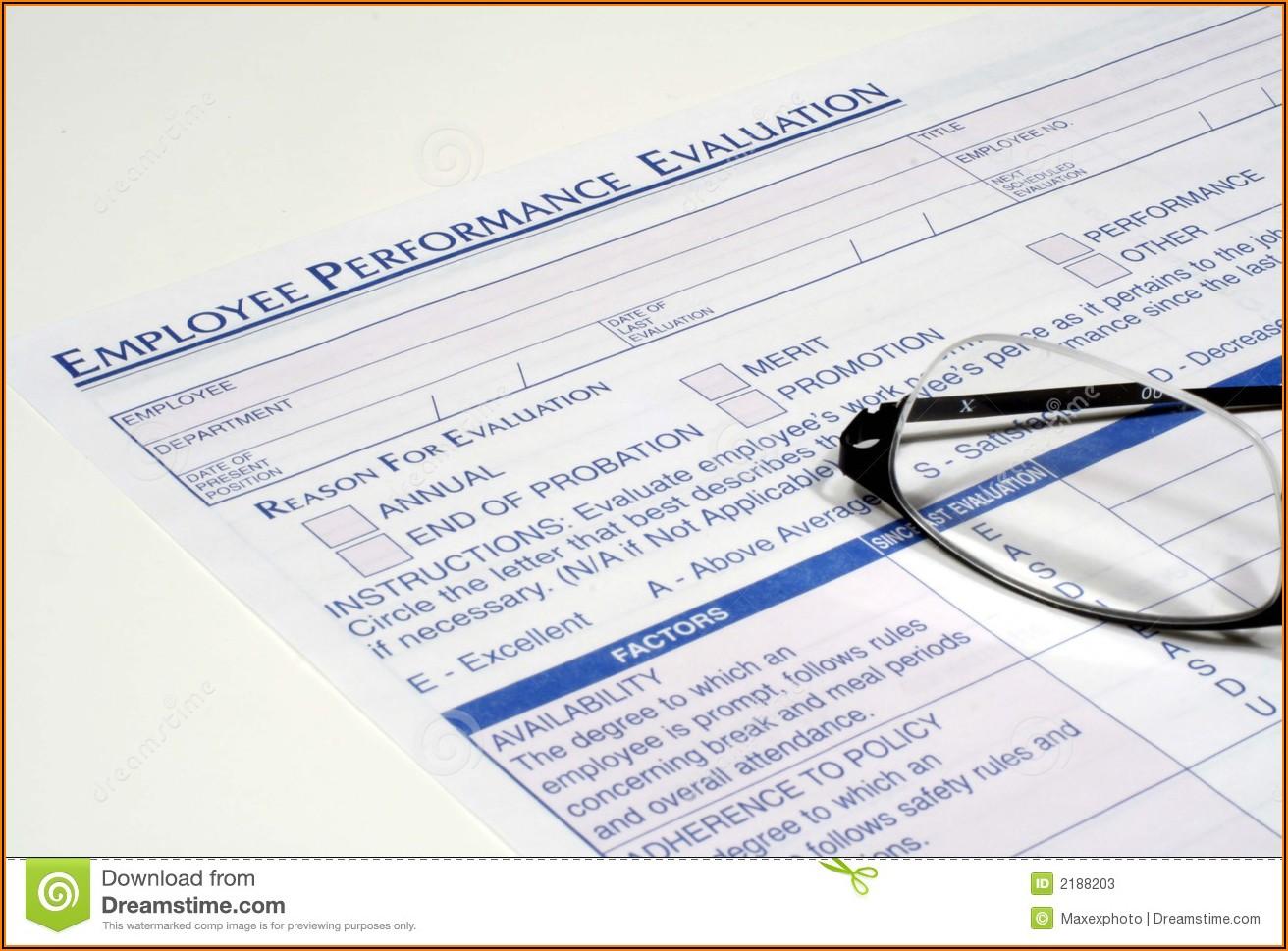 Naf Employee Performance Evaluation Form