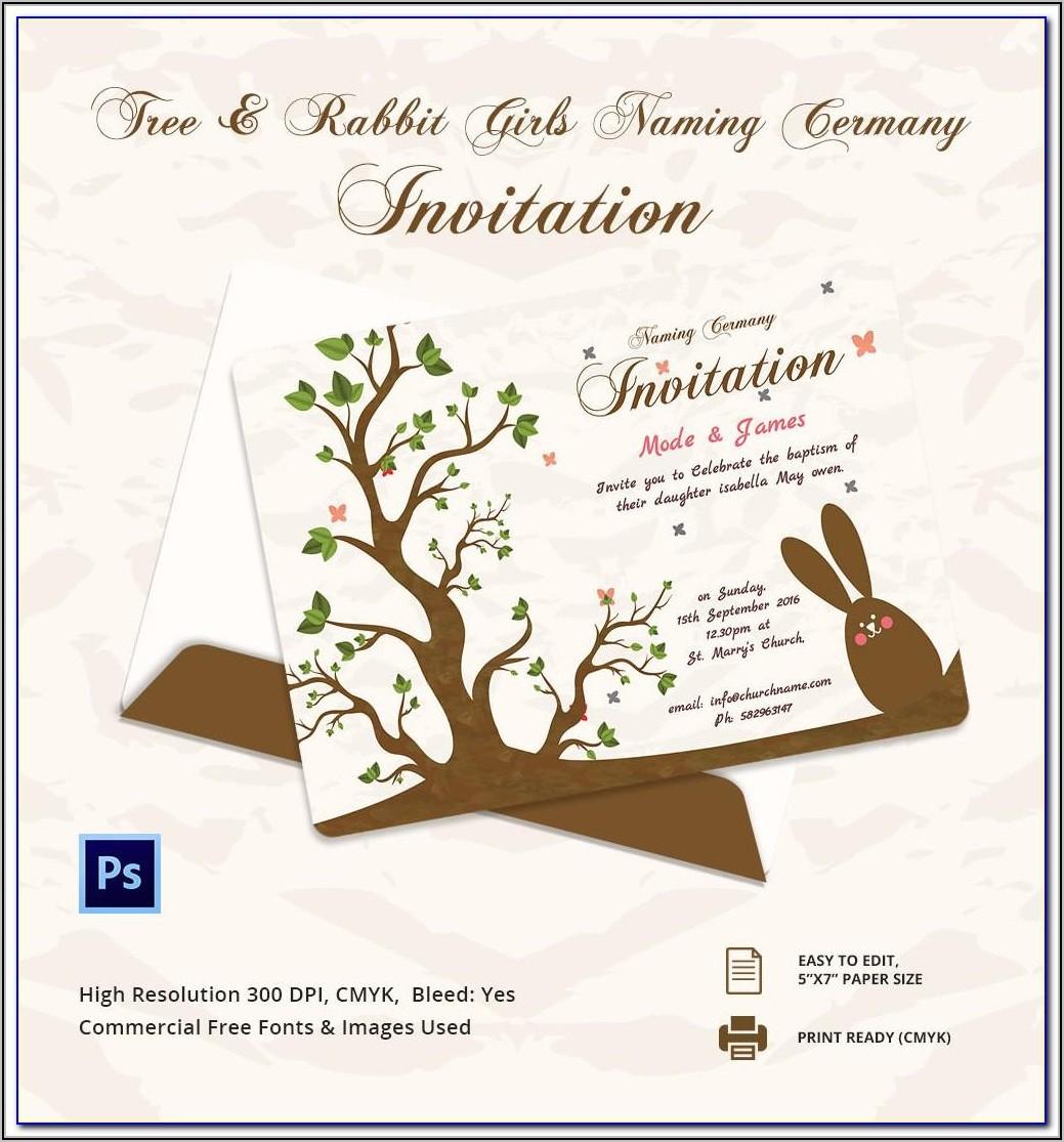 Naming Ceremony Invitation Templates Free Download