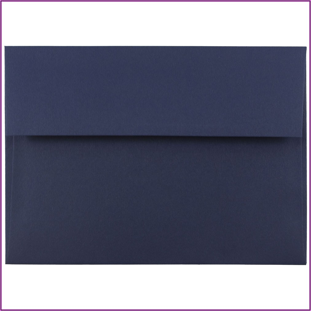 Navy Blue 5 X 7 Envelopes