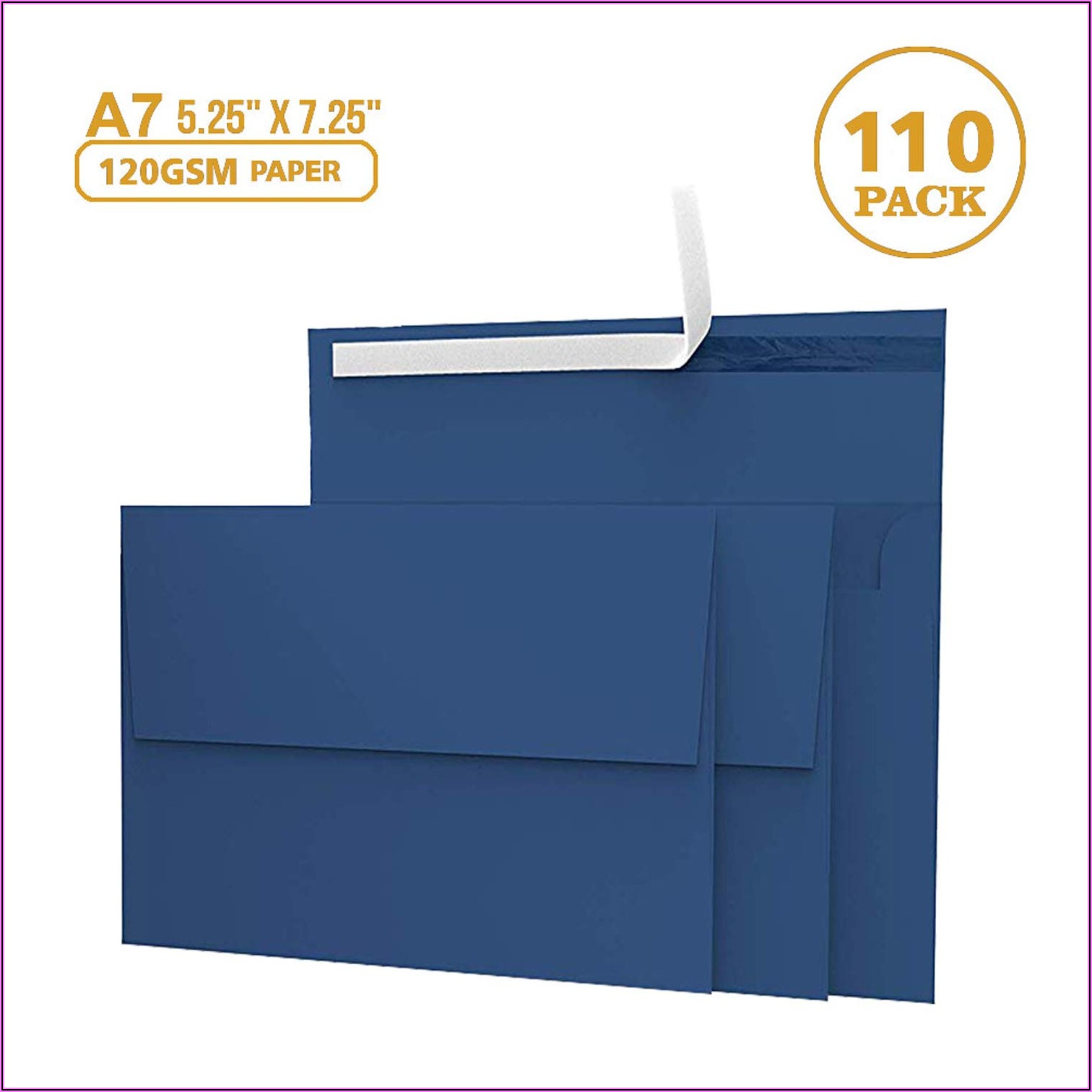Navy Blue Envelopes 5x7