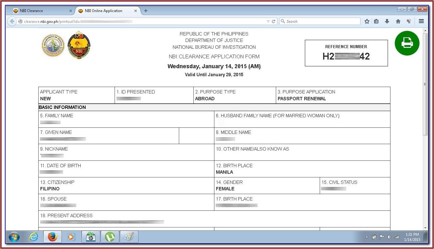 Nbi Online Registration Form