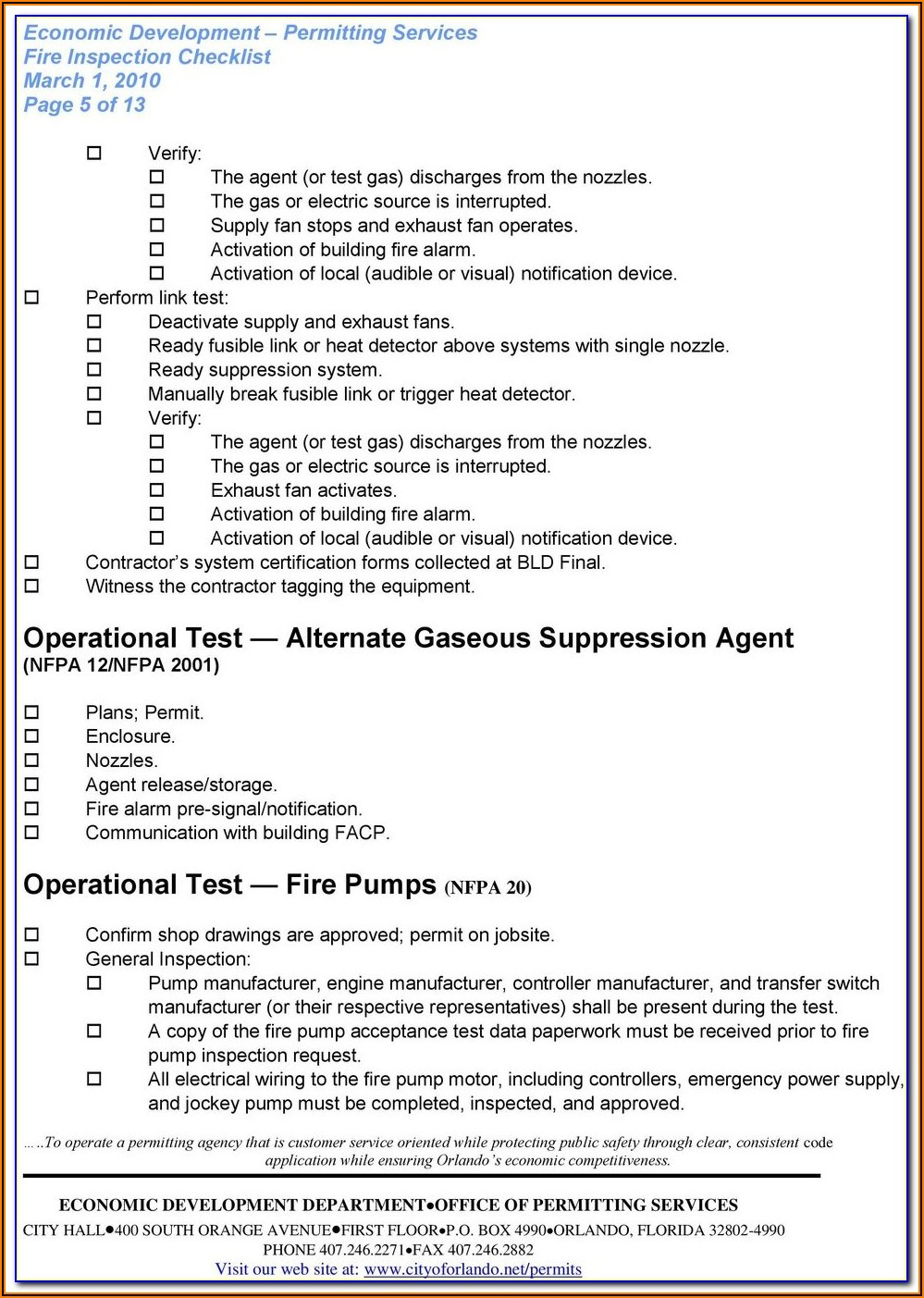 Nfpa Fire Pump Testing Forms