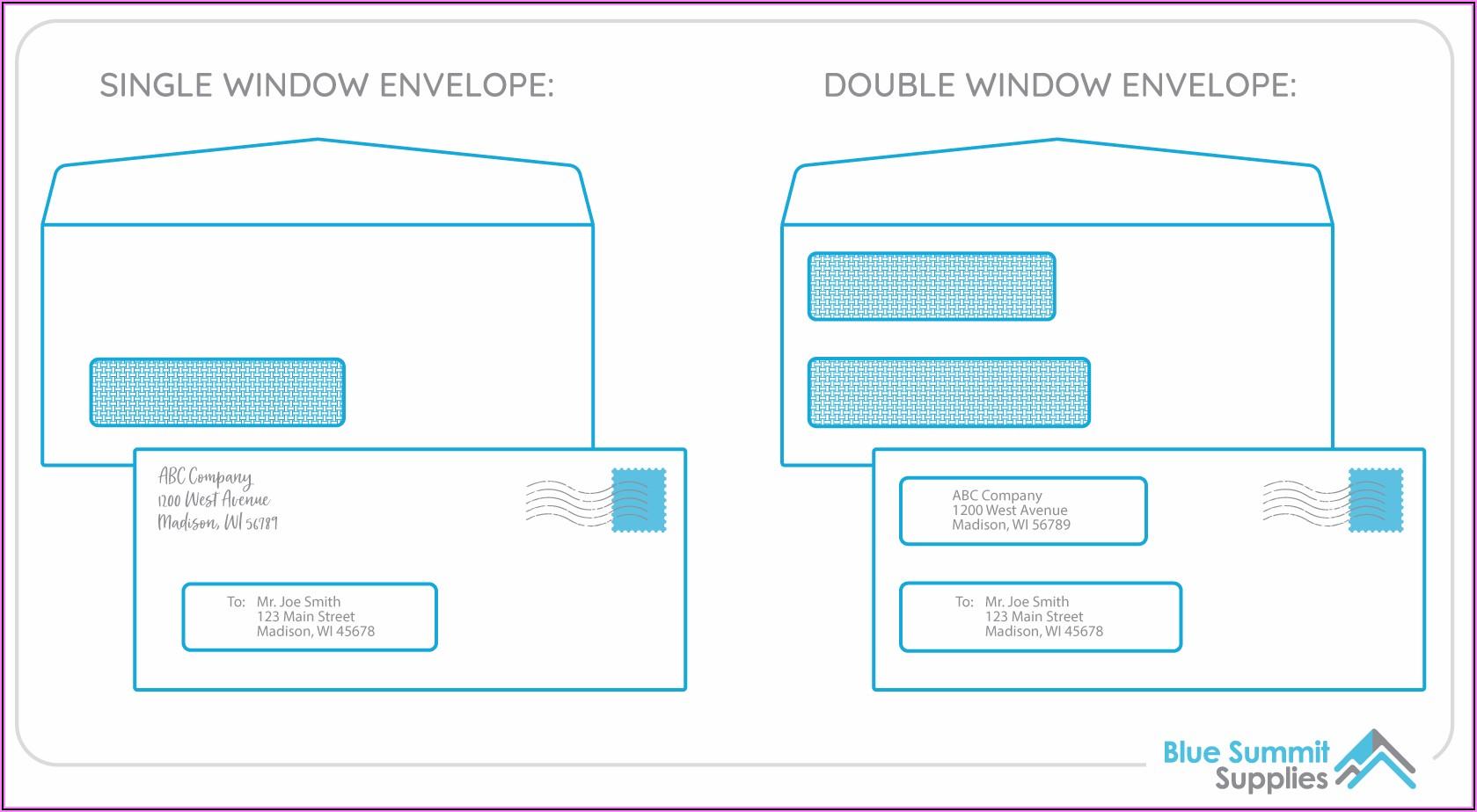 No 10 Envelope Template Illustrator