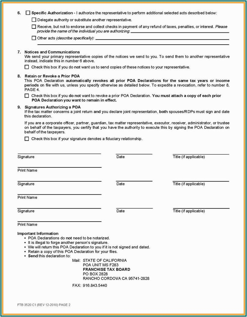 Notary Public Template California