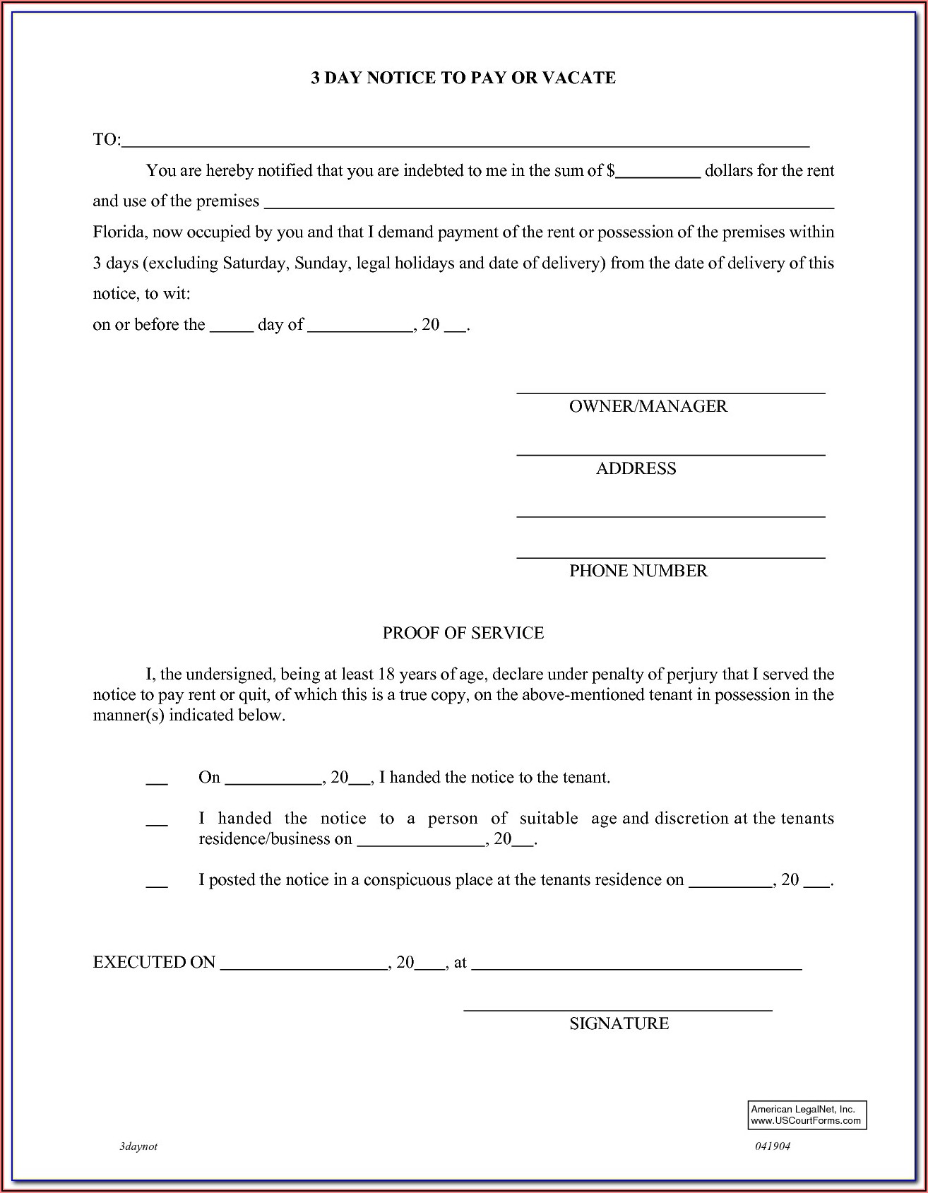 Notice To Vacate Form Texas Pdf
