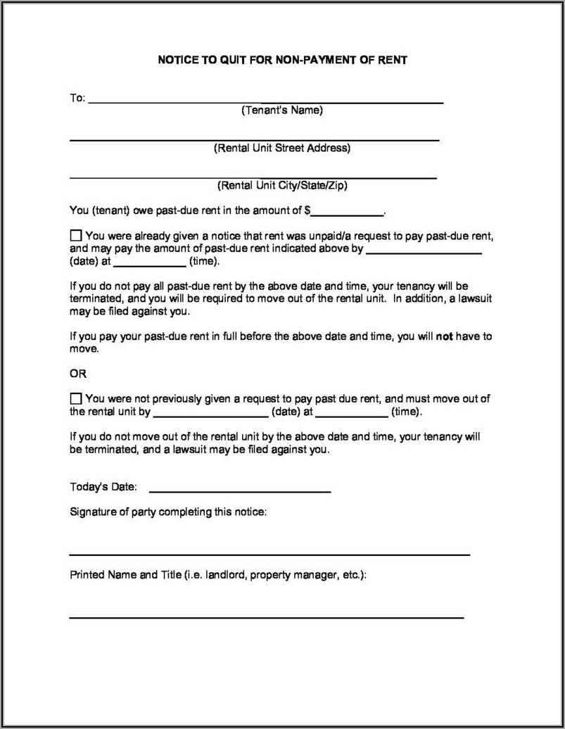 Notice To Vacate In Texas Free Forms