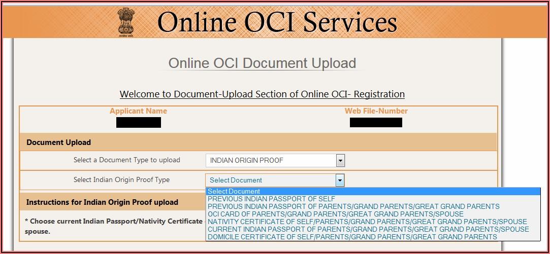Oci Indian Visa Application Form Online