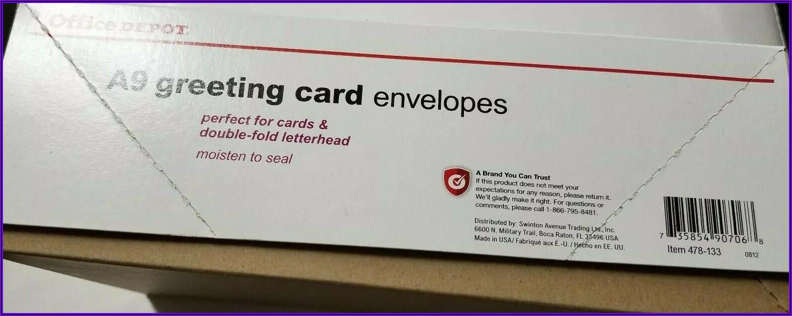 Office Depot A9 Envelopes