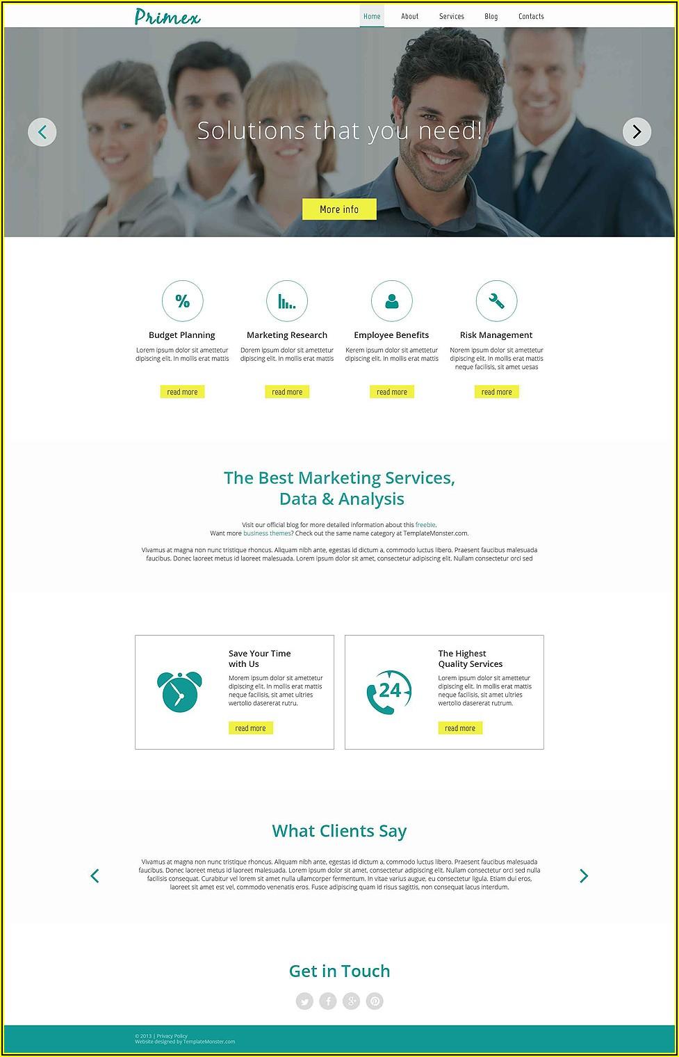 Online Marketing Website Templates