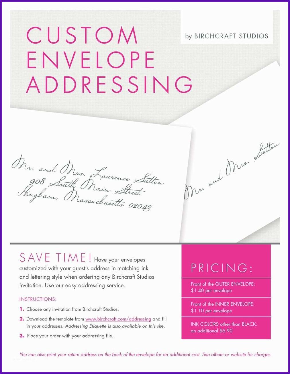 Outer Envelope Wedding Invitation Etiquette