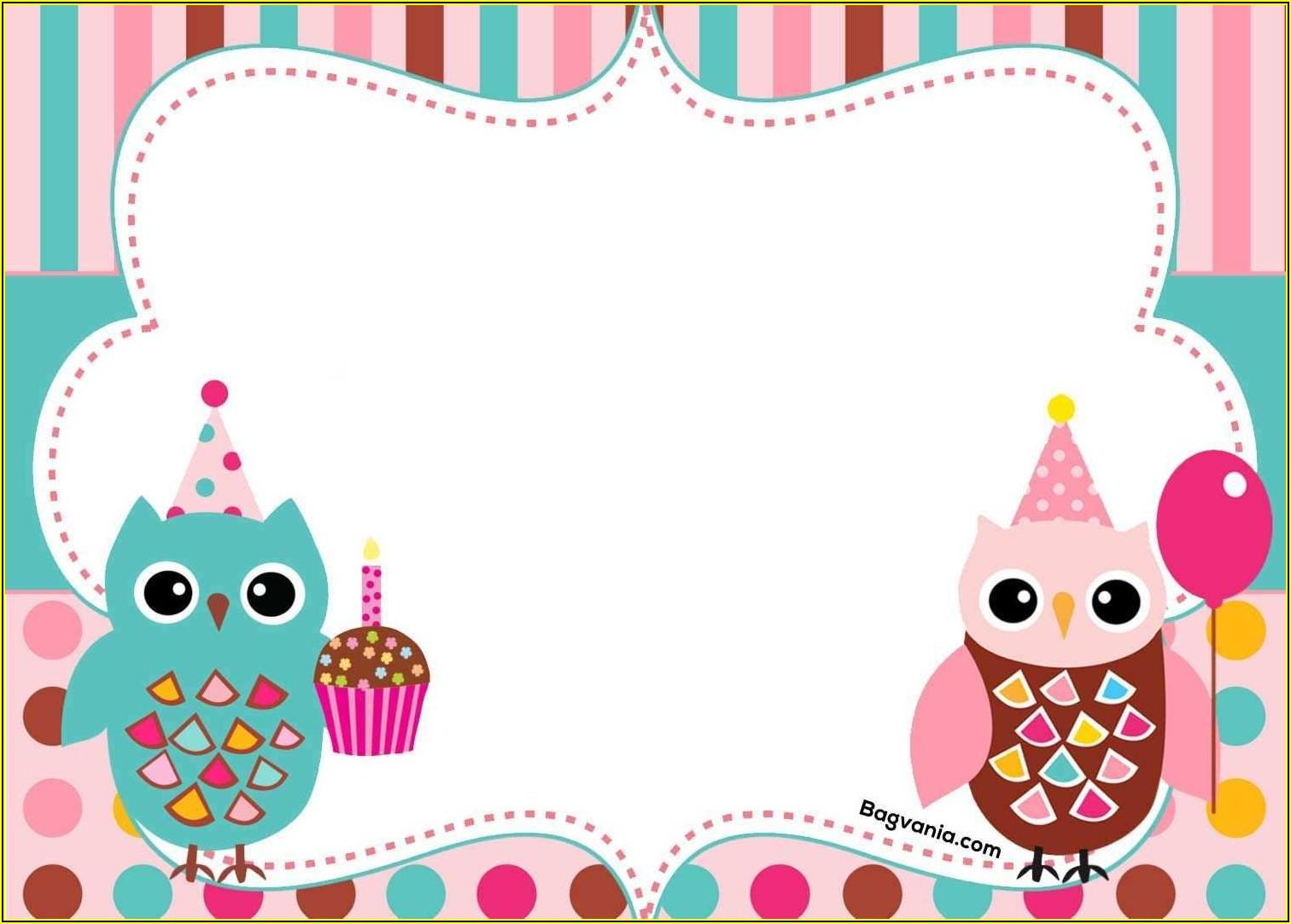 Owl Invitation Printable Template