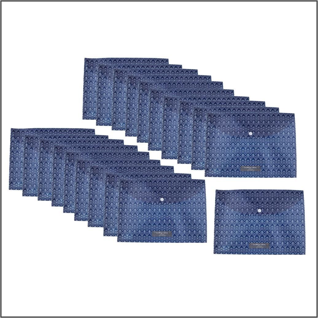 Plastic Envelope With Snap Closure