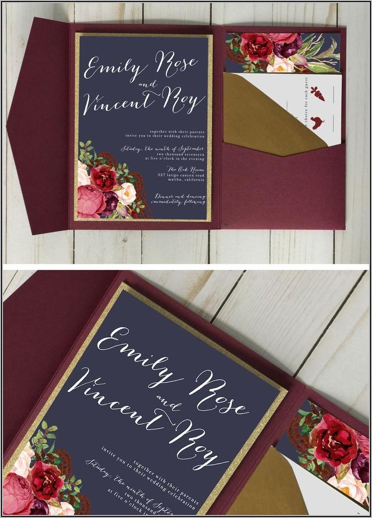 Pocket Envelopes For Wedding Invitations