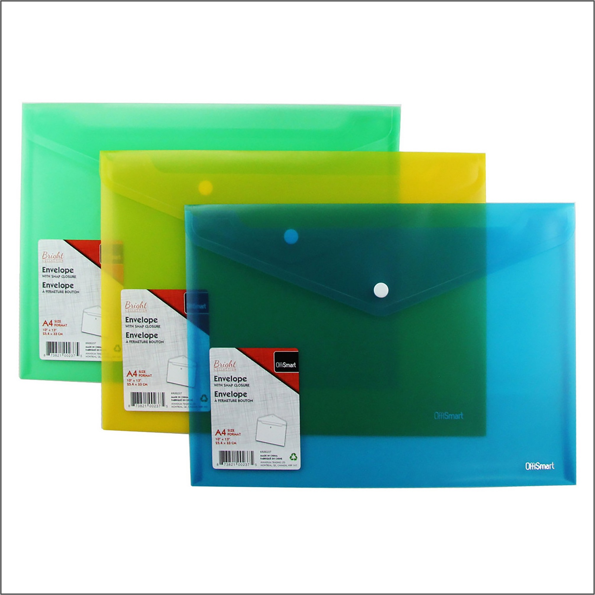 Poly Envelope With Snap Closure