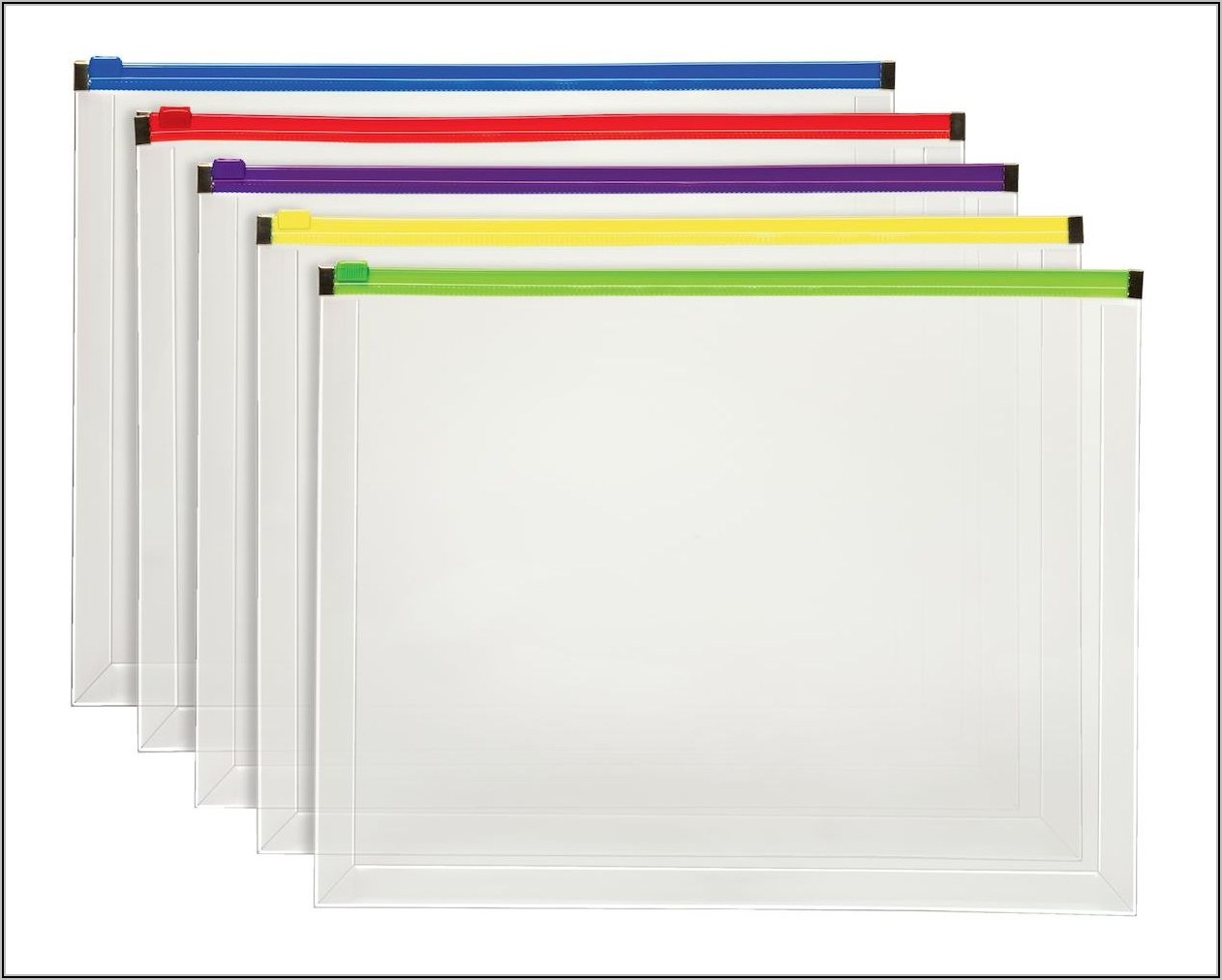 Poly Zip Envelopes For Binders