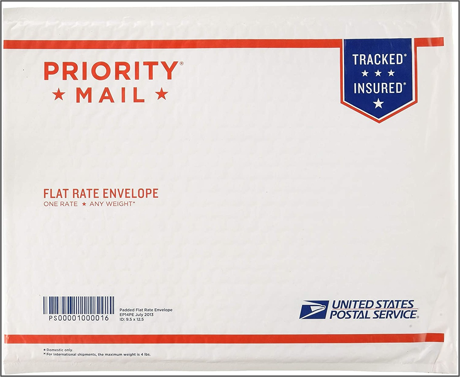 Postage Prepaid Usps Priority Mail Flat Rate Envelope
