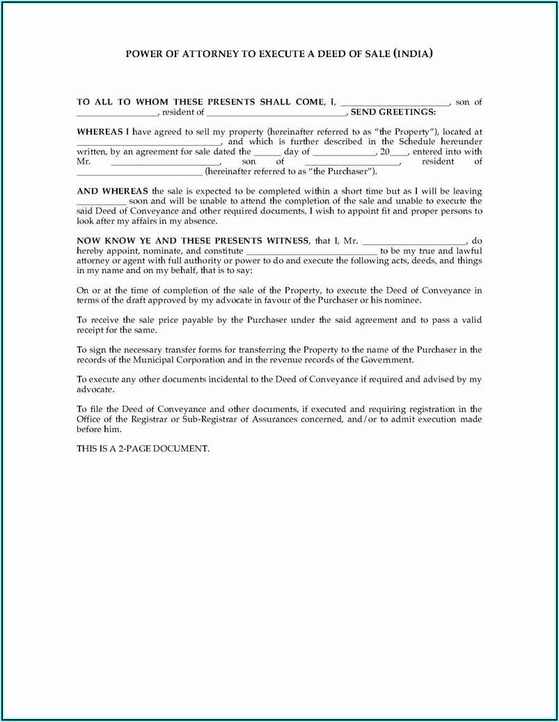 Power Of Attorney Form Nc Dmv